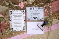 Wedding invitation rubber stamp set DIY wedding