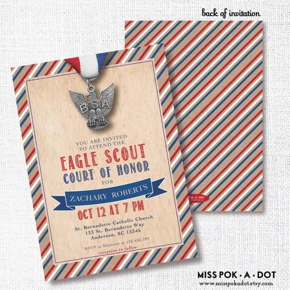 Eagle Court Of Honor Invitations