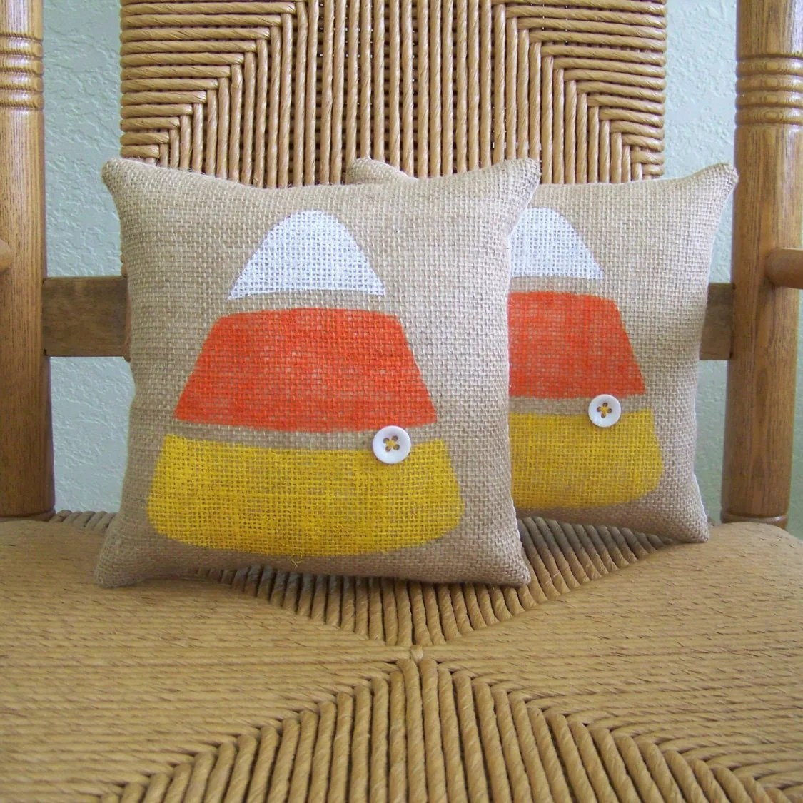 Halloween pillow Candy corn pillow Fall by KelleysCollections