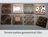 Birds decor rustic decor green kitchen tile accent tiles
