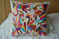 Organic Mexican pillow cover handmade mexican textile
