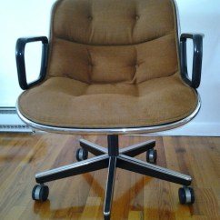 Knoll Pollock Chair Wooden Accent Chairs With Arms Mid Century Modern Charles For Office In