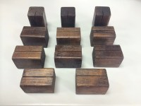 10 Wooden Table Number Holders or Sign Holders. Table Number