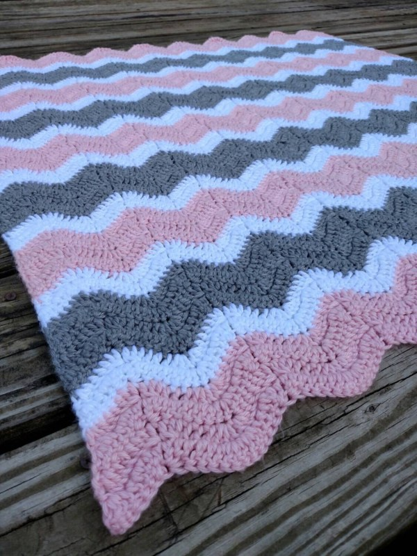 Double Crochet Chevron Afghan Year Of Clean Water