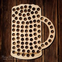 Beer Mug Beer Cap Map Made of Beautiful Birch Wood by ...