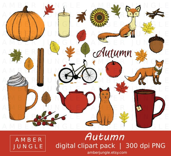 autumn clipart - instant