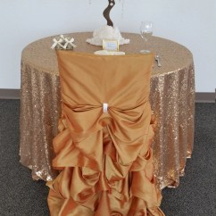Fancy Chair Covers Best Recliner Gold Wedding Ruffled