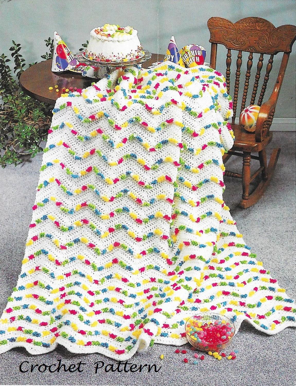 Crochet Pattern Jelly Beans Blanket