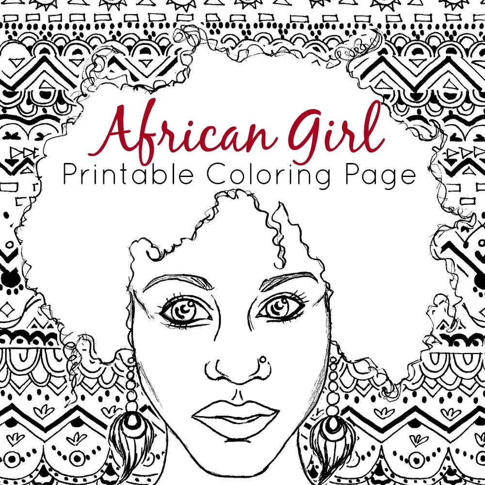Printable Adult Coloring Pages and Digital Stamps by