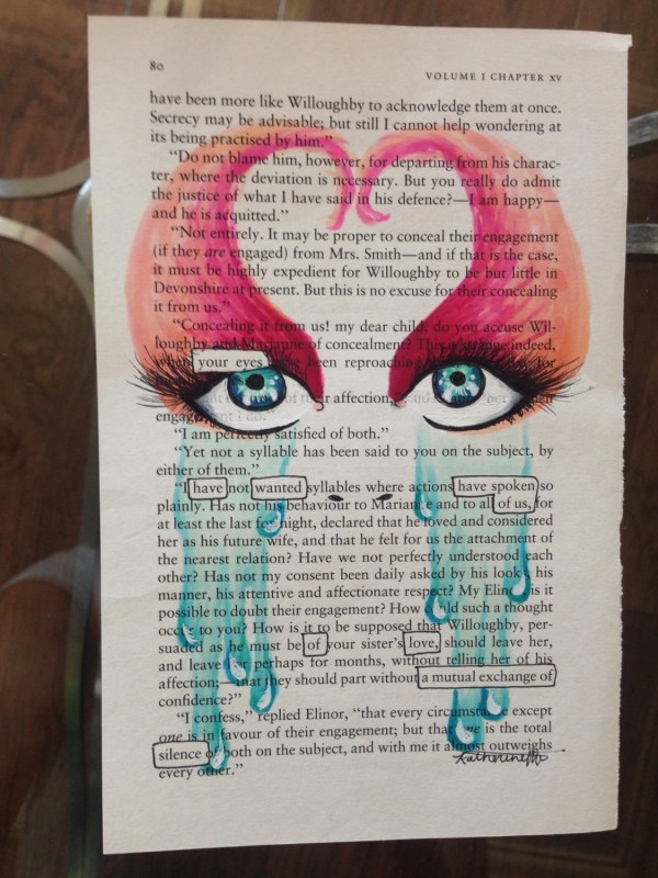 Eyes Blackout Poetry Art Artwork Book Word