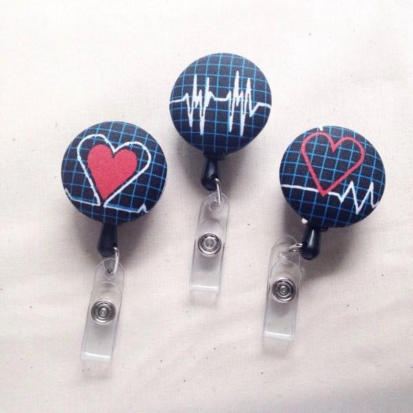 Nurse Id Badge Holder Cardiac Nursing Idea Ekg