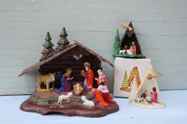 Vintage Nativity Sets Plastic Instant Collection Set Of