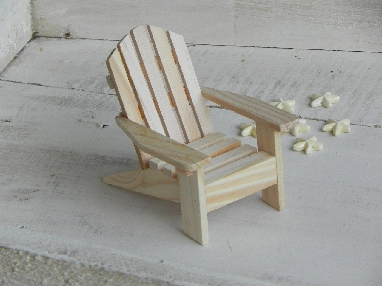 miniature adirondack chairs painted high chair ready to paint wood supplies for