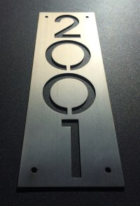 Custom stainless house number plaques. Plate only