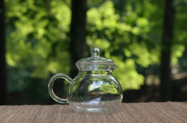 Small Vintage Glass Pitcher With Lid Gravy Sauce