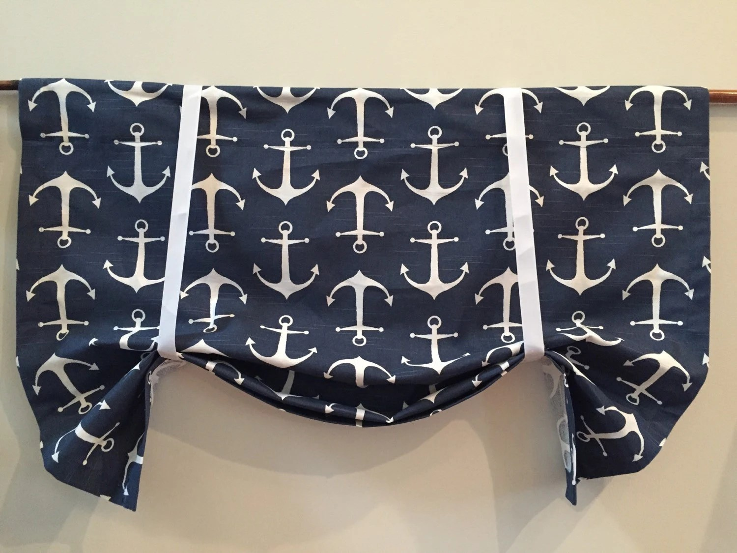 Nautical Curtain Nautical Valance Anchor Valance Childrens