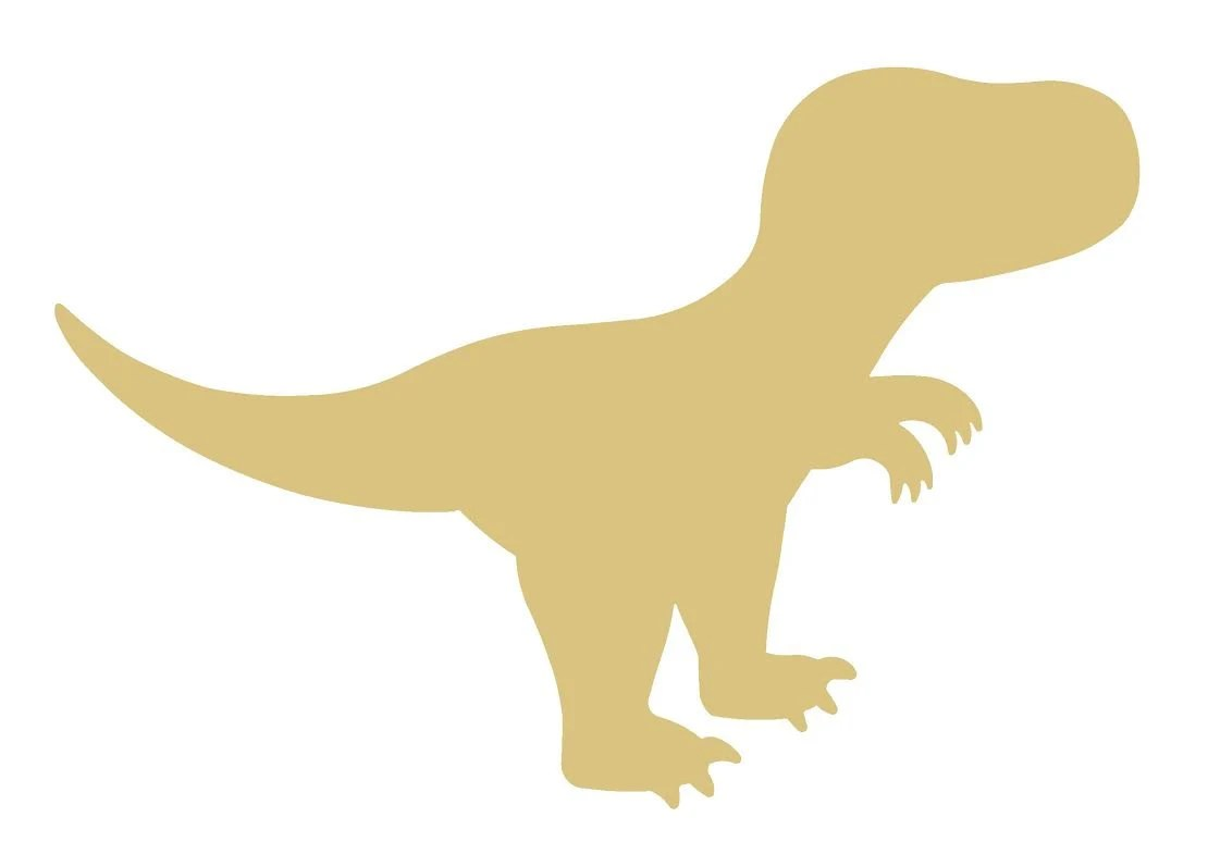 T Rex Dinosaur Unfinished Wood Shape Cutout Variety Sizes