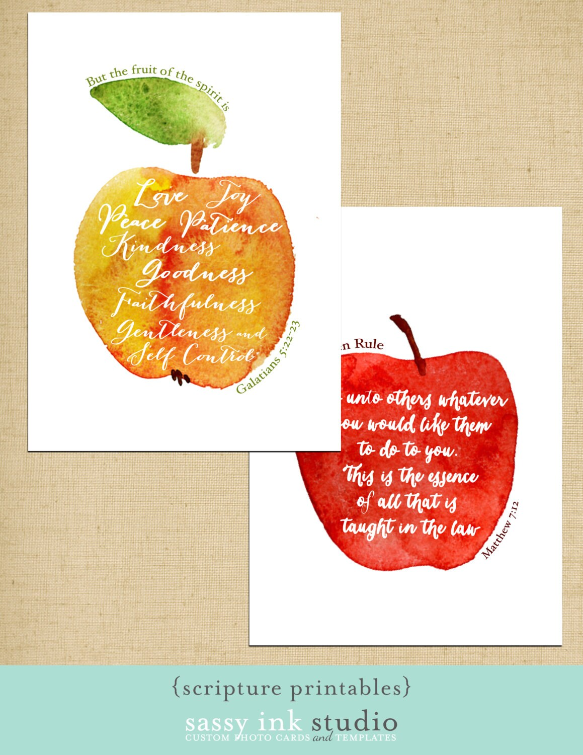 The Fruit Of The Spirit And The Golden Rule Printables Two