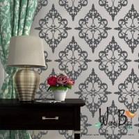Damask Pattern Vinyl Wall Decal pattern pack set of 24