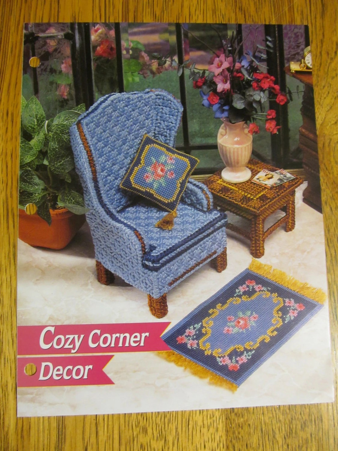 Cosy Corner Decor Overstuffed Chair Coffee Table Needlework Rug Plastic Canvas Patterns For 11 5 Fashion Barbie Doll Furniture