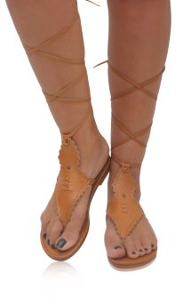 Wildflower. Bohemian Leather Sandals Barefoot Wrap