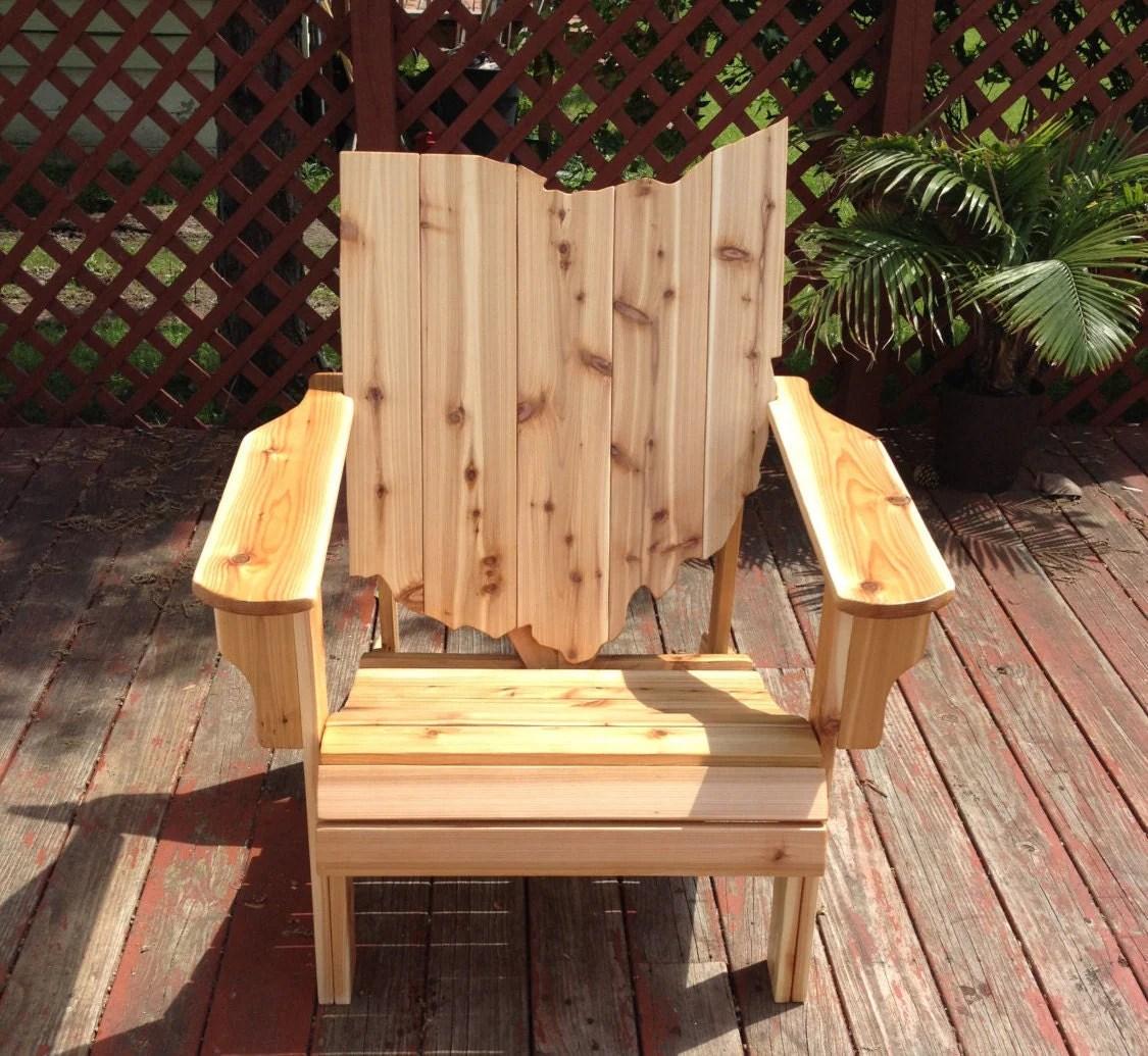 handmade wooden chairs reupholster swivel office chair ohio adirondack wood furniture rustic cedar