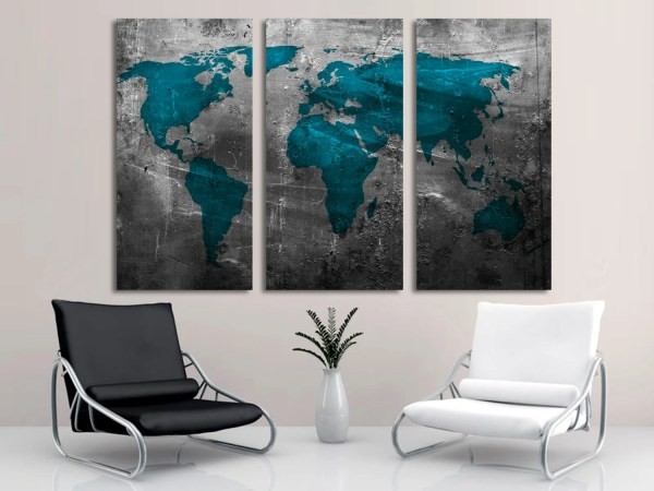 Teal Abstract Canvas Wall Art