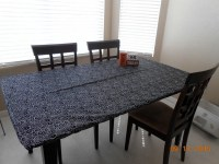 "Items similar to 6'x30""x30"" Aqua Blue' Fitted Tablecloth ..."