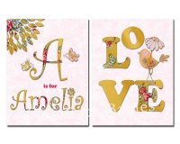 Personalized nursery wall decor kids room love decoration baby