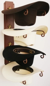 Cowboy Hat Holder Rust with Gold Stars