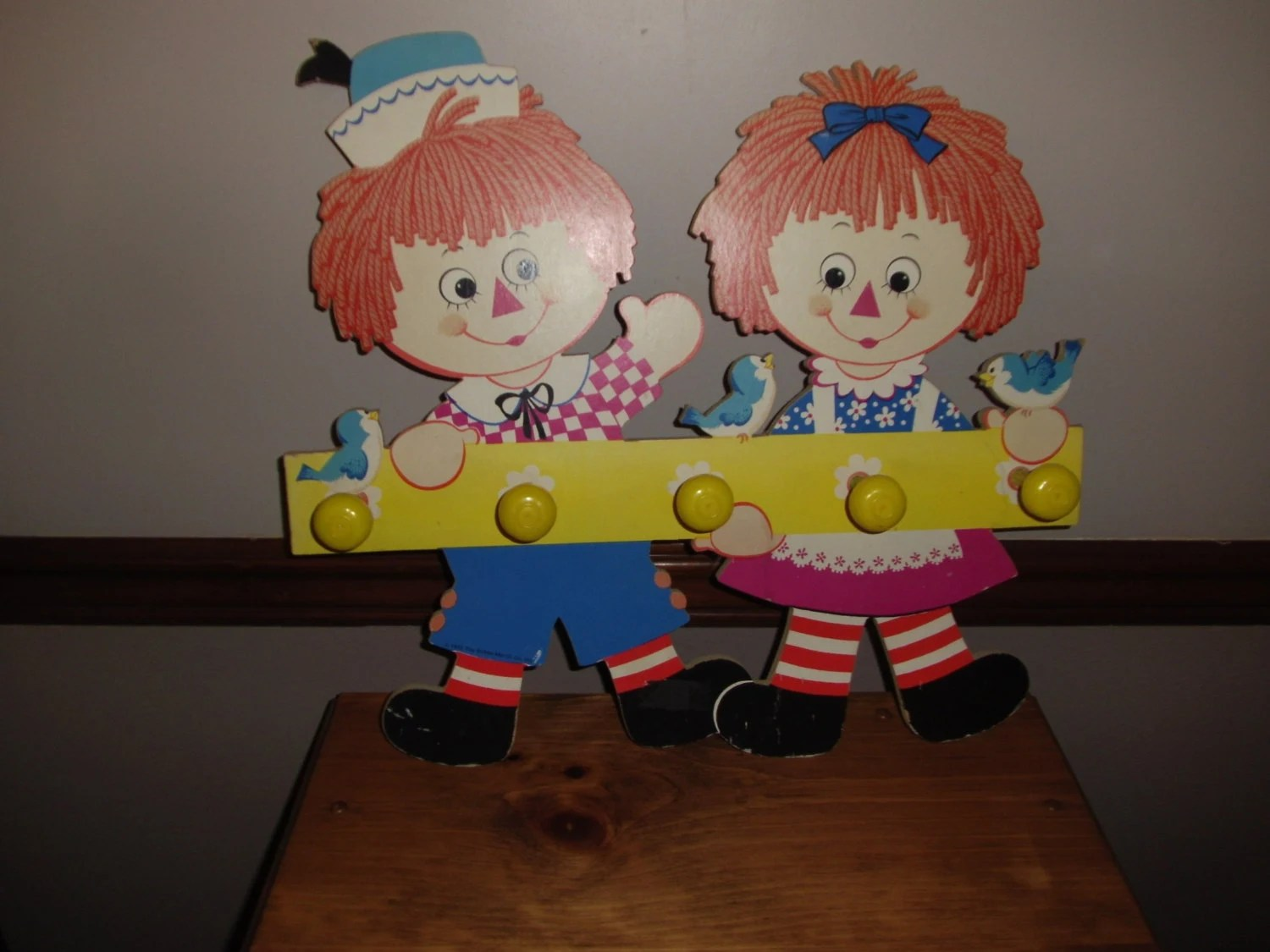 Vintage Raggedy Ann And Andt Coat Rack Or Clothes Rack
