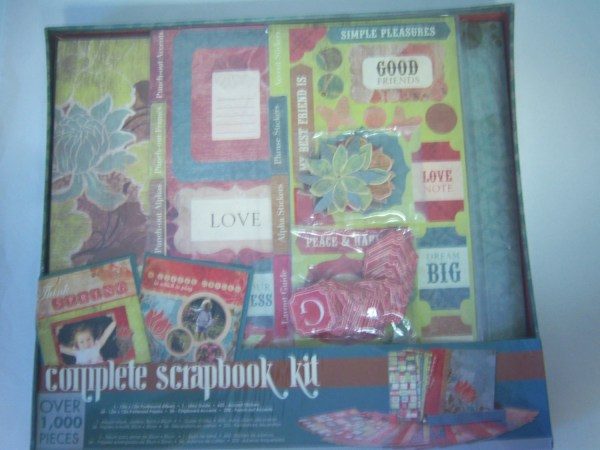 Colorbok Complete Scrapbook Kit Brown Floral Box