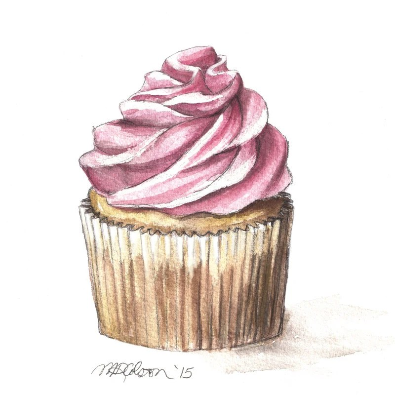 French Patisserie Watercolor Print French Bakery Paris Cafe