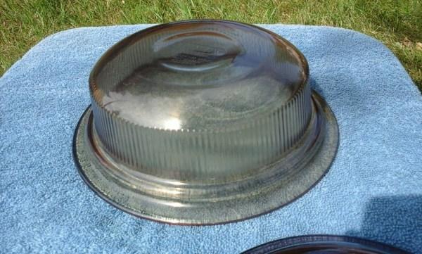 Pyrex Amber Visionware Visions Corning Glass Brown 1 Quart