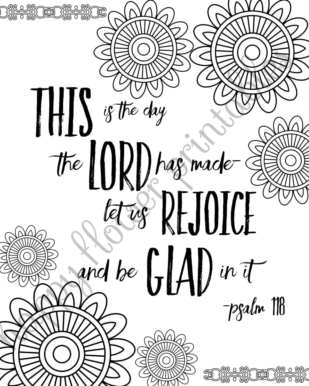 5 Bible Verse Coloring Pages Set 1 Inspirational Quotes DIY