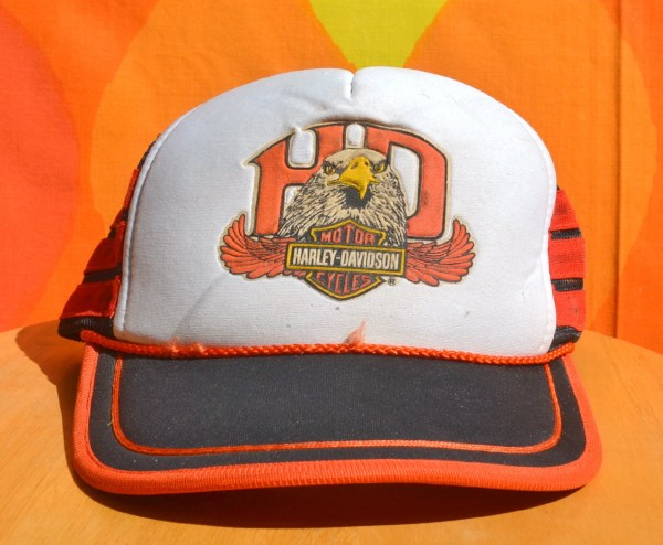 Vintage 70s Harley Davidson Hat Mesh Trucker Snapback Baseball