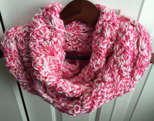 Breast Cancer Awareness Wave Infinity Scarf