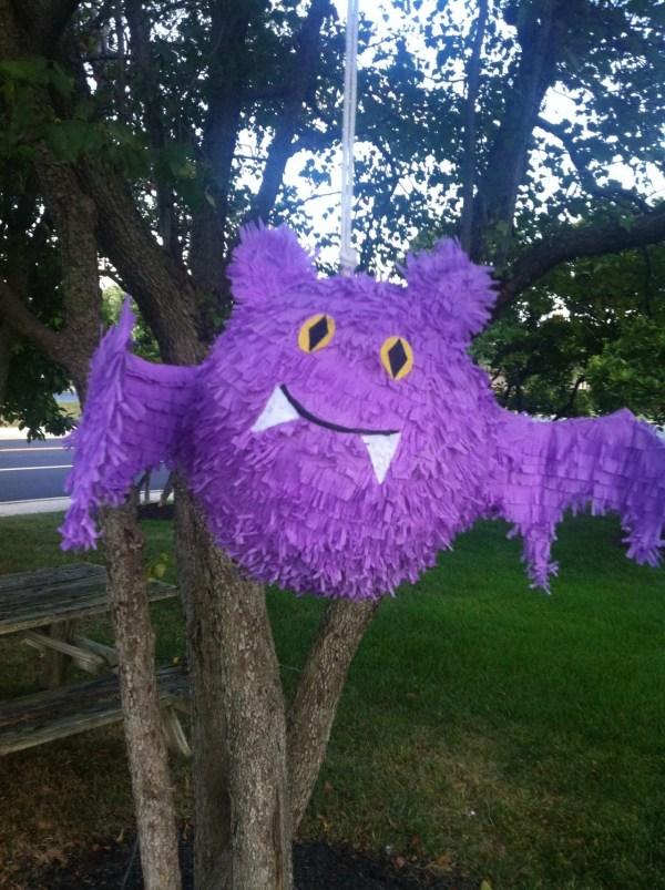 Halloween Bat Pinata Purple