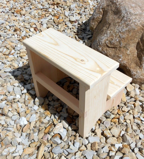 Tall Step Stool Unfinished