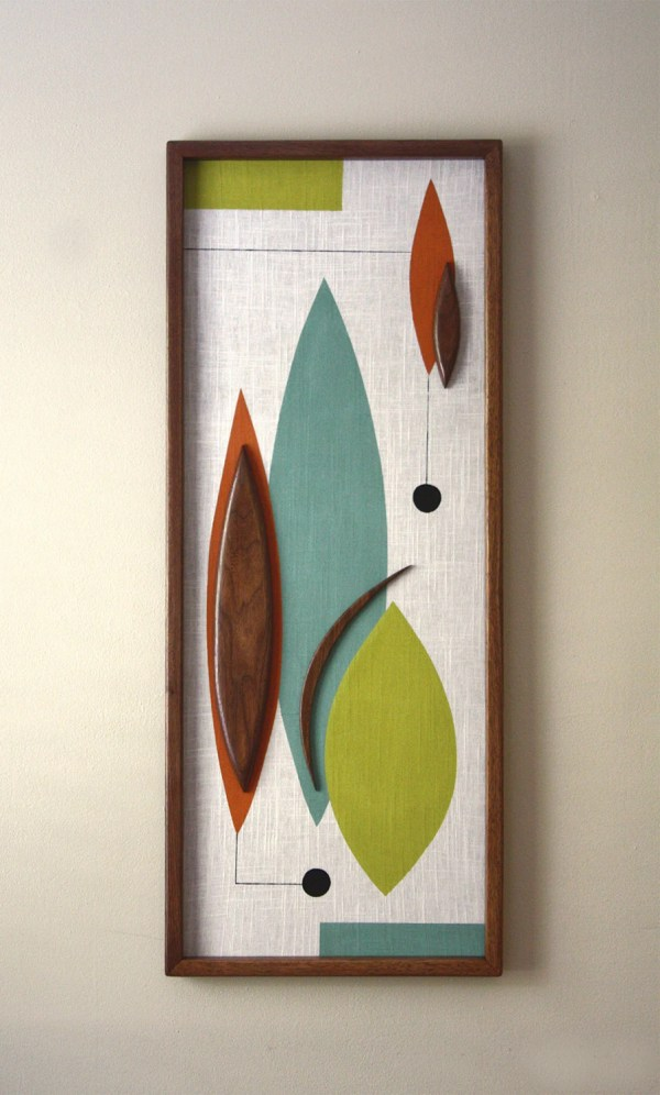 Mid Century Danish Modern Witco Styled Wall Art Nonnie