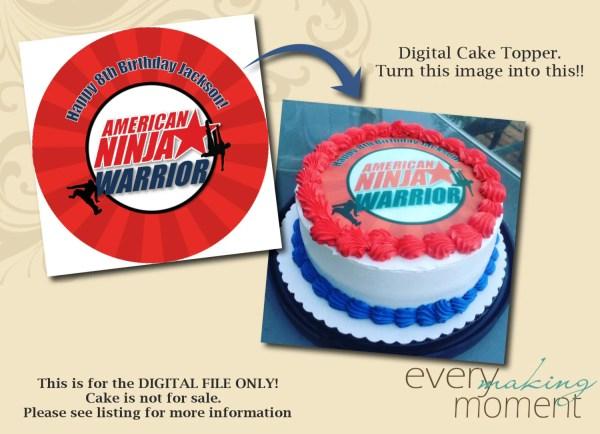 Ninja Birthday Cake Toppers - Year of Clean Water