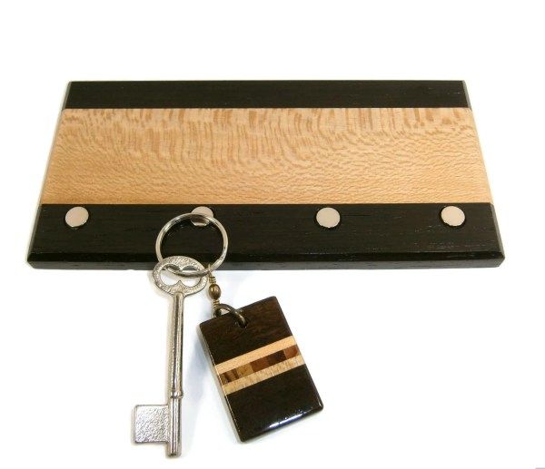 Key Holder Wood Magnetic Wall