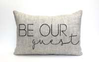 be our guest pillow throw pillow word pillow phrase pillow