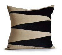 Decorative Throw Linen Pillow Cover Applique Velvet Pillow