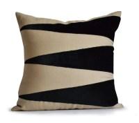 Decorative Throw Linen Pillow Cover Applique Velvet Pillow