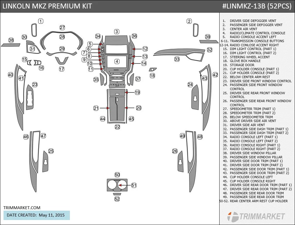 Interior 2006 Lincoln Navigator Parts Diagram. Lincoln