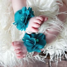 Rhinestone Barefoot Sandals for Babies