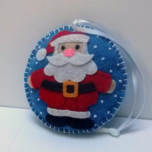 Felt Santa Clause Ornament Christmas Snowing