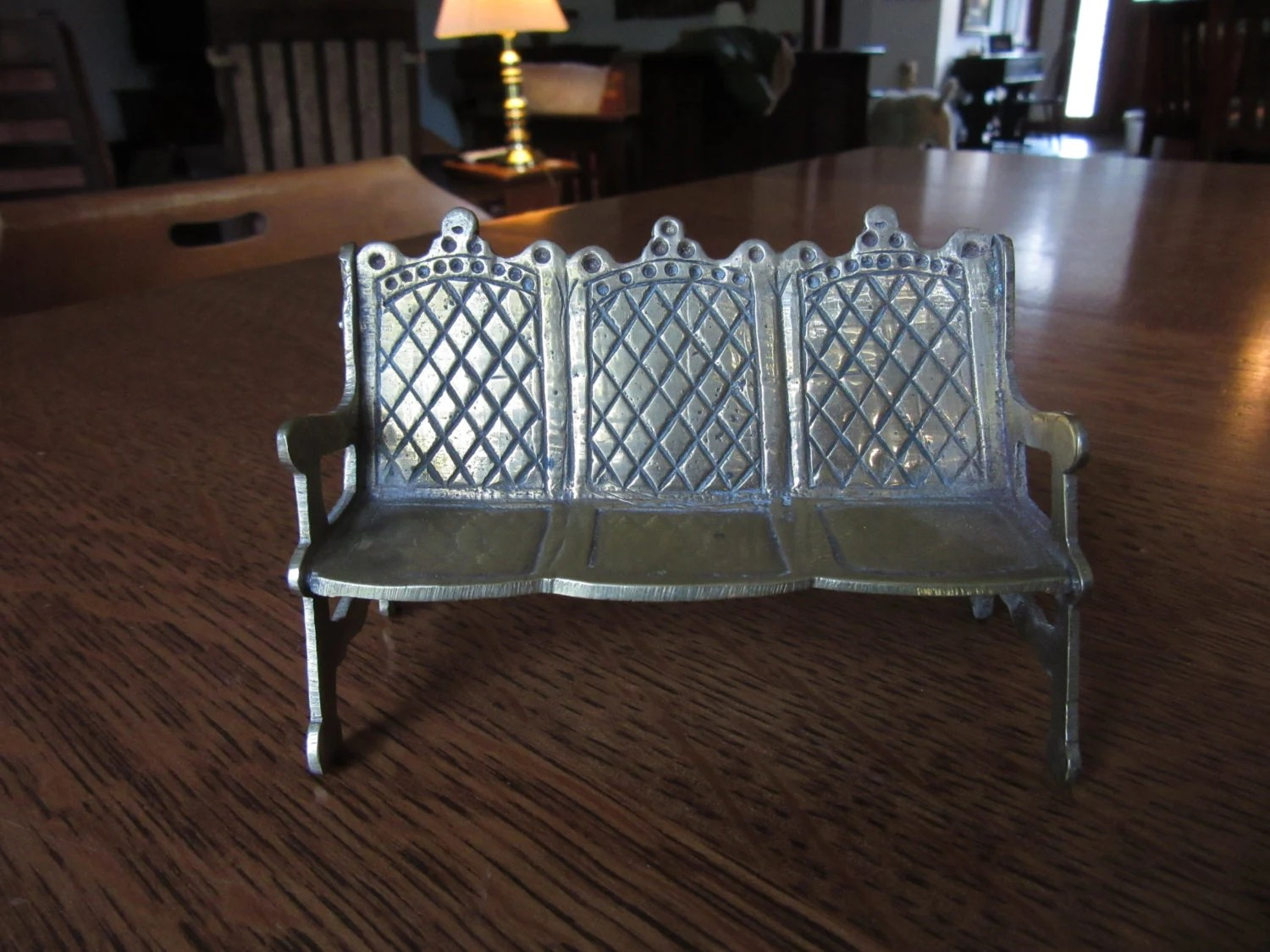 steel chair buyers in india office chairs at target vintage dollhouse brass htf bench doll house furniture