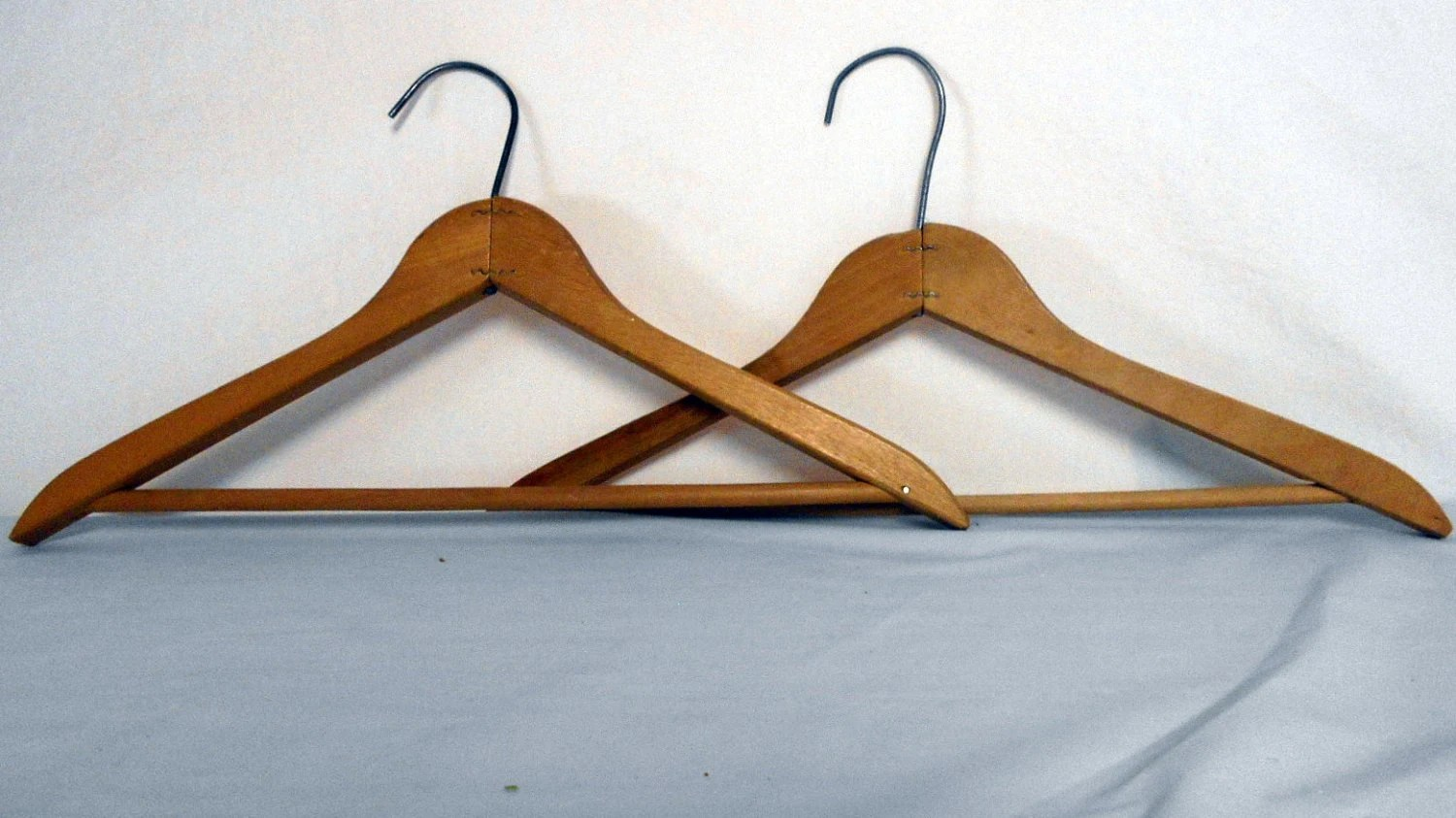 Vintage wooden clothes hanger pant hanger wood skirt for What to do with extra clothes hangers